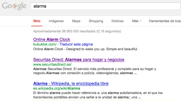Alarm SERP